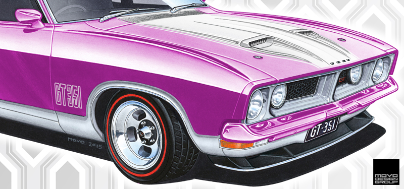 Ford Falcon Xb Gt 351 Mulberry Art Print Movo Design Group