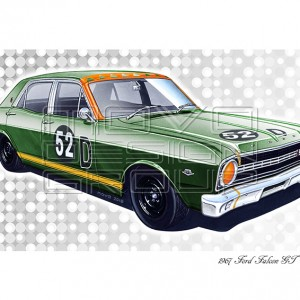MOVO Design Group - Ford Falcon GT Bathurst race winner Harry Firth Fred Gibson
